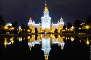 Главное здание МГУ - Первенство ВУЗов Москвы по летнему полиатлону 2013 нормы гто