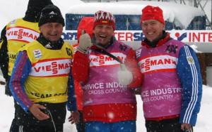 Михаил Сибирцев, Юрий Зайцев и Павел Матвеевич Виролайнен (в центре)